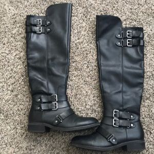 Dolce Vita tall black moto boots